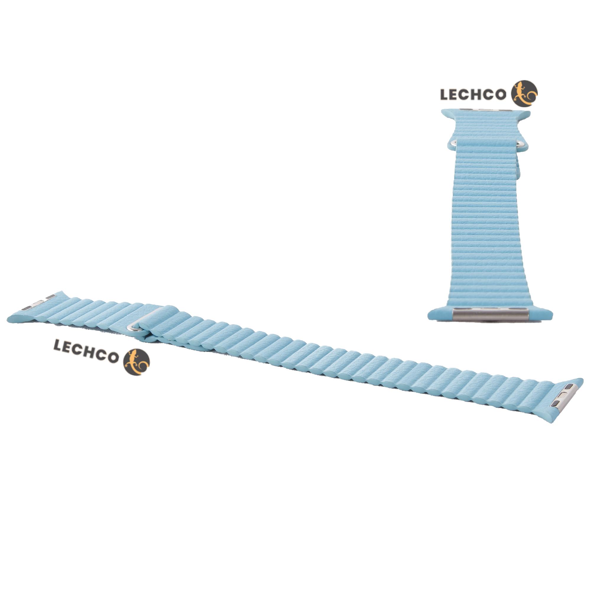 بند ساعت چرمی leatherloop اپل واچ آبی آسمانی