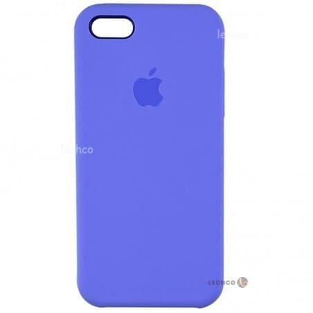 قاب گوشی سیلیکونی آیفون 5 آبی کاربنی