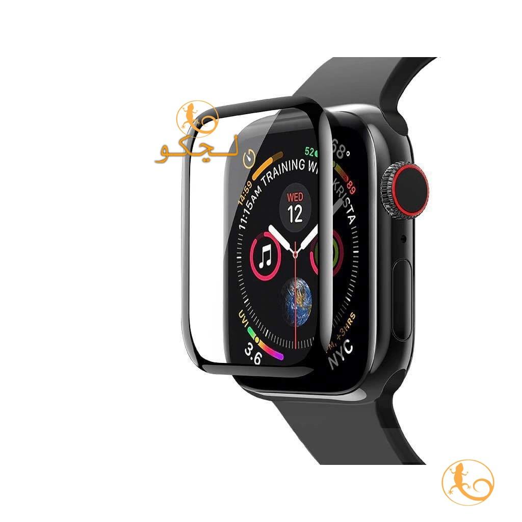گلس apple watch 7 مدل نانو سراميكی لبه دار لبه مشكی