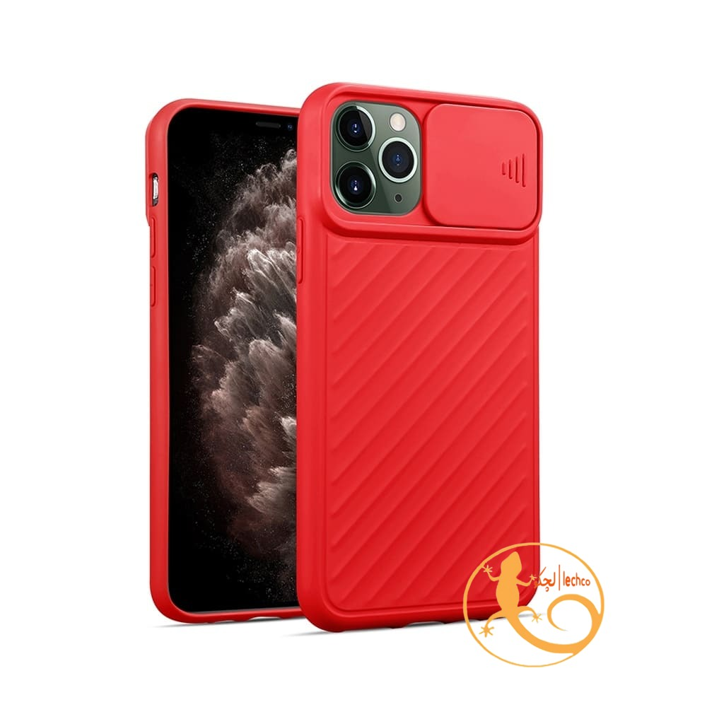 قاب گوشی آیفون 13 پرو مدل سیلیکون محافظ لنز دار _ iPhone 13 pro،قرمز